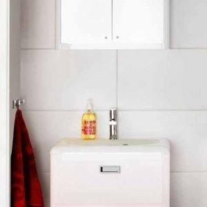 Kalusteryhmä Harmony 600 allaskaappi + pesuallas + peilikaappi kiiltävä valkoinen