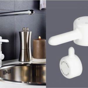 Keittiöhanan vipu Gustavsberg Logic valkoinen apk-venttiili
