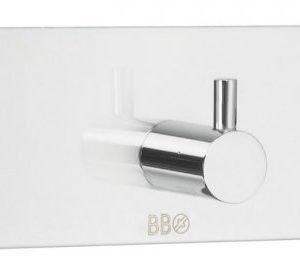Kolmoiskoukku Smedbo B design 1103 tarrakiinnitteinen