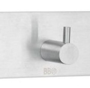 Kolmoiskoukku Smedbo B design 1103 tarrakiinnitteinen harjattu