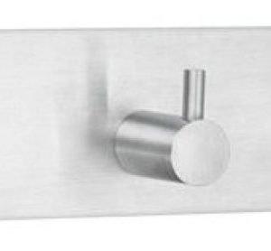 Kolmoiskoukku Smedbo B design 1107 tarrakiinnitteinen harjattu