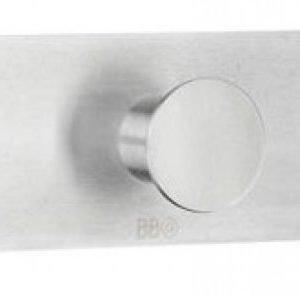 Kolmoiskoukku Smedbo B design 1117 tarrakiinnitteinen harjattu
