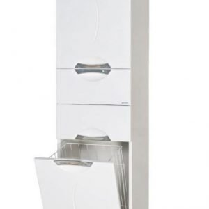 Korkea Seinäkaappi Aquarodos Gloria valkoinen 400x325x1770mm