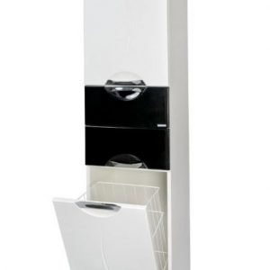 Korkea kaappi Aquarodos Premium musta/valkoinen 400x350x1950mm