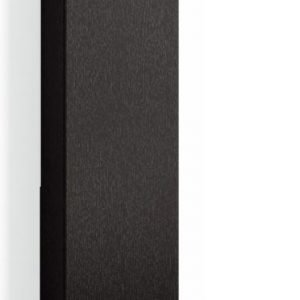 Korkea kaappi Forma 123x30x20 cm Push Open musta tammi