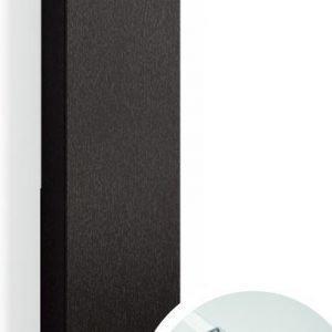 Korkea kaappi Forma 123x30x20 cm integroitu vedin 6 musta tammi