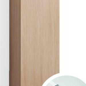 Korkea kaappi Forma 123x30x20 cm integroitu vedin 6 vaalea tammi