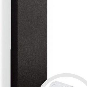 Korkea kaappi Forma 123x30x20 cm integroitu vedin 7 musta tammi