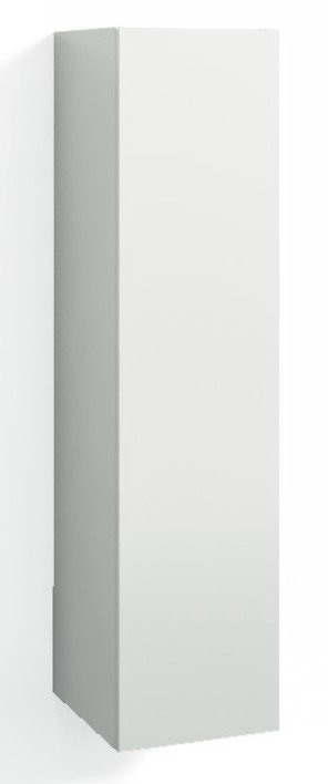 Korkea kaappi Forma 123x30x20 cm valkoinen