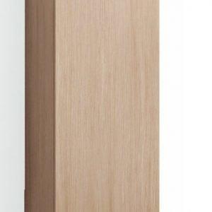 Korkea kaappi Forma 123x30x35 cm huurrelasi/vaalea tammi