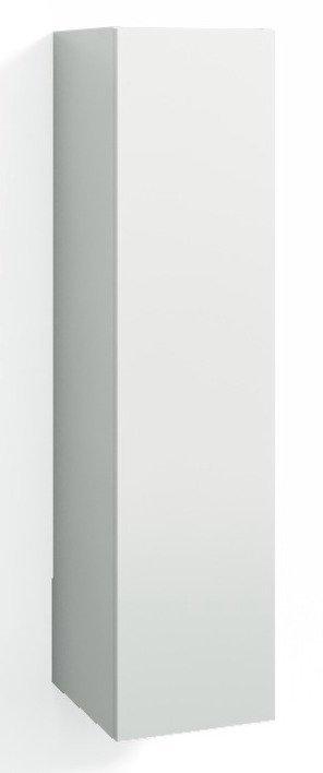 Korkea kaappi Forma 123x30x35 cm valkoinen