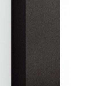 Korkea kaappi Forma 123x40x20 cm huurrelasi/musta tammi