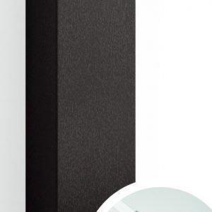 Korkea kaappi Forma 123x40x20 cm integroitu vedin 6 musta tammi