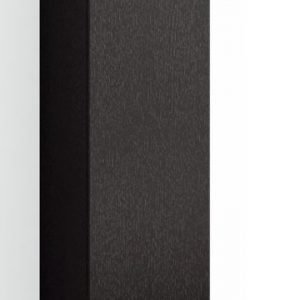 Korkea kaappi Forma 123x40x35 cm huurrelasi/musta tammi