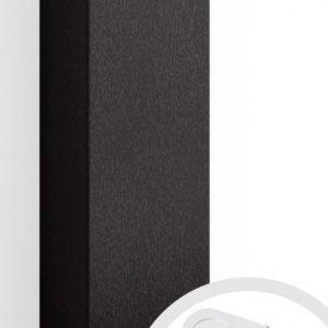 Korkea kaappi Forma 123x40x35 cm integroitu vedin 7 musta tammi