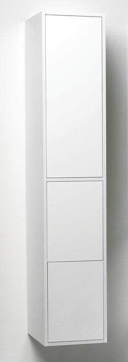 Korkea kaappi Noro Avanti 310x415x1600 mm valkoinen kiiltävä