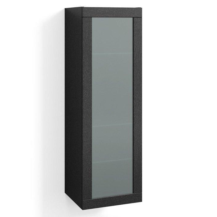 Korkea kaappi Svedbergs Stil Frost 40x123cm musta tammi huurrelasi