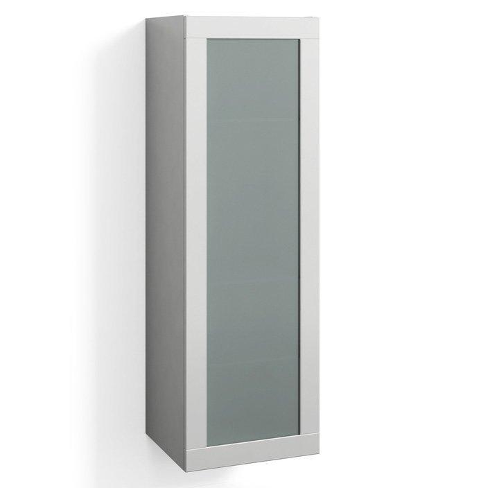 Korkea kaappi Svedbergs Stil Frost 40x123cm valkoinen huurrelasi