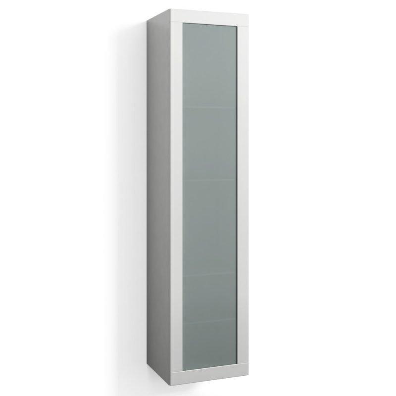 Korkea kaappi Svedbergs Stil Frost 40x172cm valkoinen huurrelasi