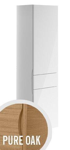 Korkea kaappi Villeroy & Boch Aveo new generation A848 400x1530x350 mm sarana oikealla Pure Oak