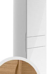 Korkea kaappi Villeroy & Boch Aveo new generation A848 400x1530x350 mm sarana vasemmalla Pure Oak