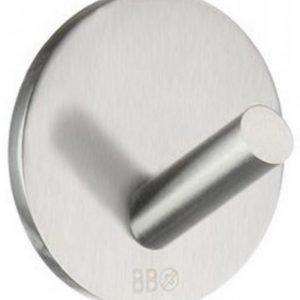 Koukku Smedbo mini B design tarrakiinnitteinen 4-pakkaus harjattu