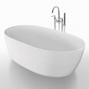 Kylpyamme Bathlife Ideal Oval 1600 mm valkoinen
