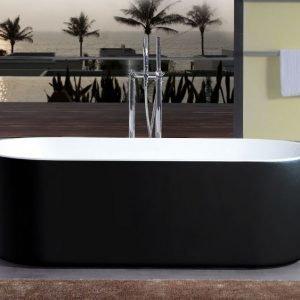 Kylpyamme Bathlife Ideal Rund 1600 mm vapaasti seisova musta
