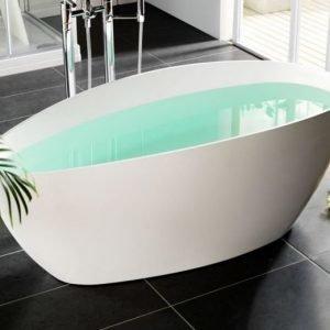 Kylpyamme Ellipse 705x1570 mm valumarmori valkoinen