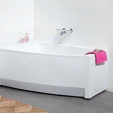 Kylpyamme IDO Seven D 1500 akryyli epäsymmetrinen vasen valkoinen