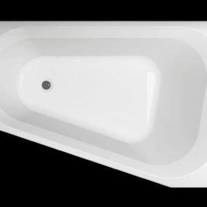 Kylpyamme Motion 160 L akryyli valkoinen