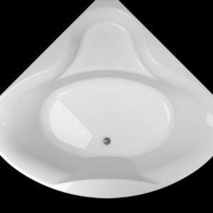 Kylpyamme Ocean 140 C akryyli valkoinen