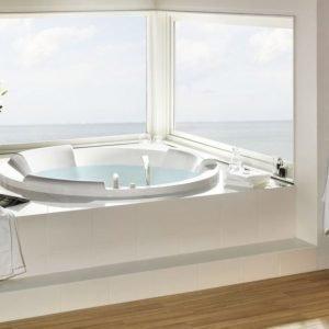 Kylpyamme Pacific 175 Round akryyli valkoinen