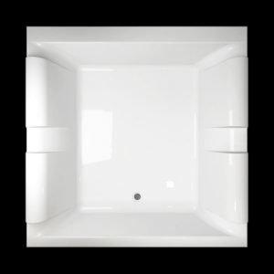 Kylpyamme Pacific 180 SQ akryyli valkoinen