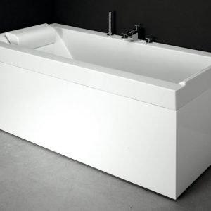 Kylpyamme Svedbergs R180 ylivuotosuojalla valumarmori valkoinen