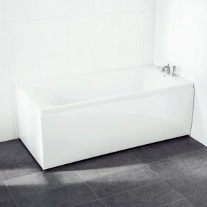 Kylpyamme Svedbergs Z160 160x75 cm päätylevyllä akryyli valkoinen