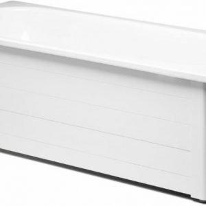 Kylpyammeen kokoetulevykehikko Gustavsberg GBG 7016 ammeeseen 1570/1600 valkoinen