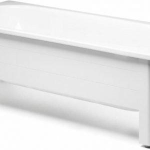 Kylpyammeen puolietulevykehikko Gustavsberg GBG 6016 ammeeseen 1570/1600 valkoinen