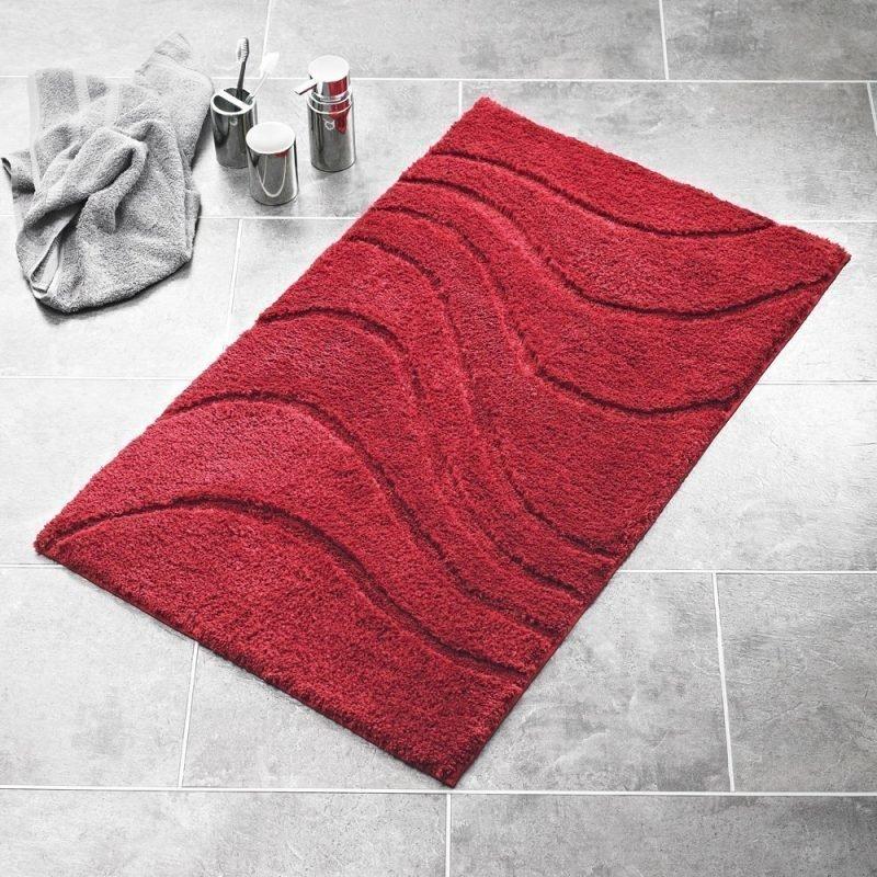 Kylpyhuonematto Ridder La Ola 60x90 tummanpunainen