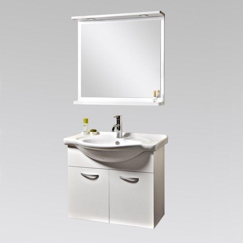Kylpyhuoneryhmä Bathlife Ideal 750 mm peilillä valkoinen