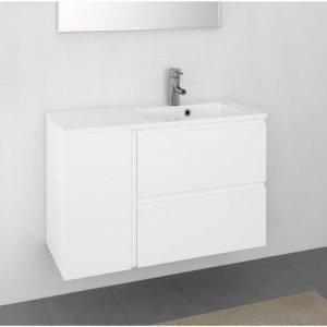 Kylpyhuoneryhmä Otsoson Minimeri 900 900x390 mm oikea valkoinen