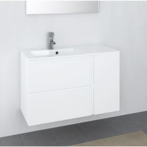 Kylpyhuoneryhmä Otsoson Minimeri 900 900x390 mm vasen valkoinen