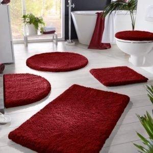 Kylpyhuonesarja Viininpunainen