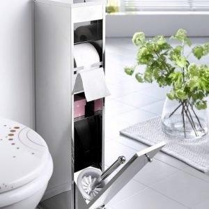 Kylpyhuonesetti Hopeanvärinen