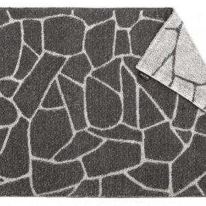 Kylpymatto Salasauna 75x50cm harmaa-valkoinen