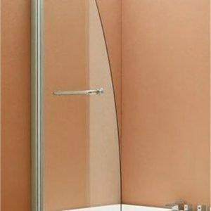 Lasiseinä LaSpa Secco Giusto 65x130 cm suorakulmaiselle ammeelle matta-alumiini kirkas turvalasi