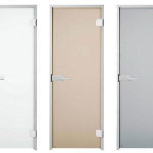 Lasiväliovi / kostean tilan ovi GlassHouse Deluxe mattalasi 7-9x19-21
