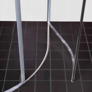 Lattiaprofiili Clear Round/Twist-suihkunurkalle alumiini 10 mm