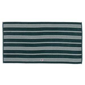 Lexington Striped Velour Pyyheliina Racing Green / Valkea 100x150 Cm