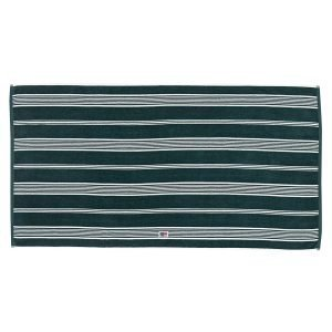 Lexington Striped Velour Pyyheliina Racing Green / Valkea 70x130 Cm